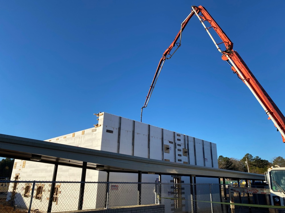 "Gandy's New ""Safe Building"" Gets a Shot of Concrete!"