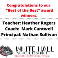 "Three Members of the White Hall School District Chosen as ""Best of the Best."""