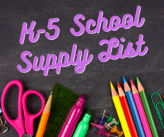 K-5 Supply List